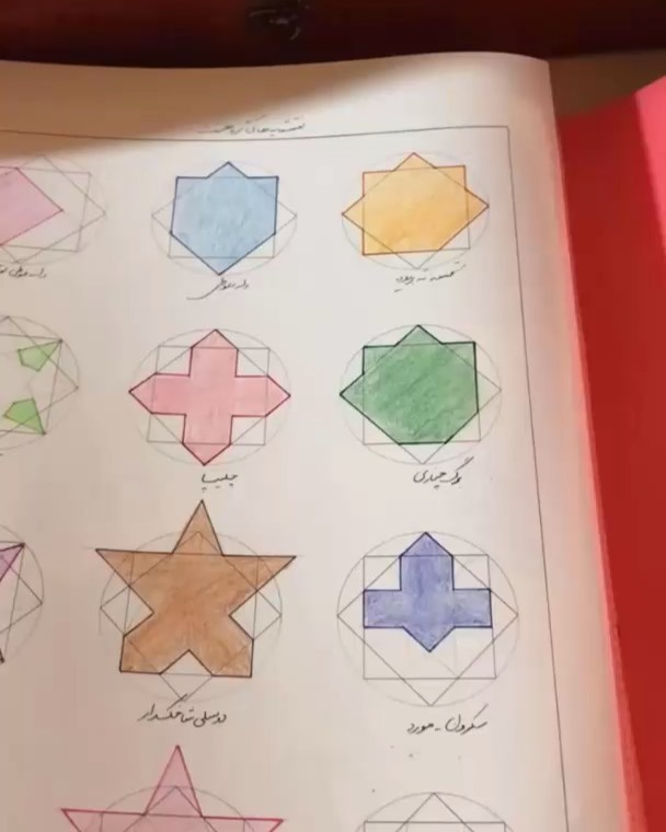 Karya Kaligrafi  بعد از پنج سال کار مداوم در زمینه ی هندسه نقوش، فکر میکنم دیگه وقتش شده باشه.  …- Ne Javaher
