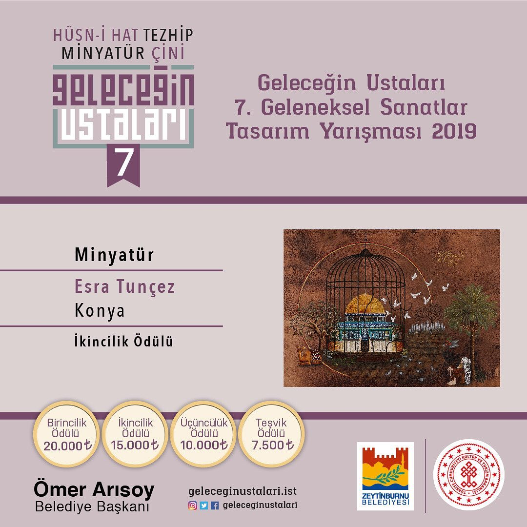 geleceginustalari Zeytinburnu Belediyesi 7. Geleneksel Sanatlar Tasarım Yarışması'nın sonuçları … 88