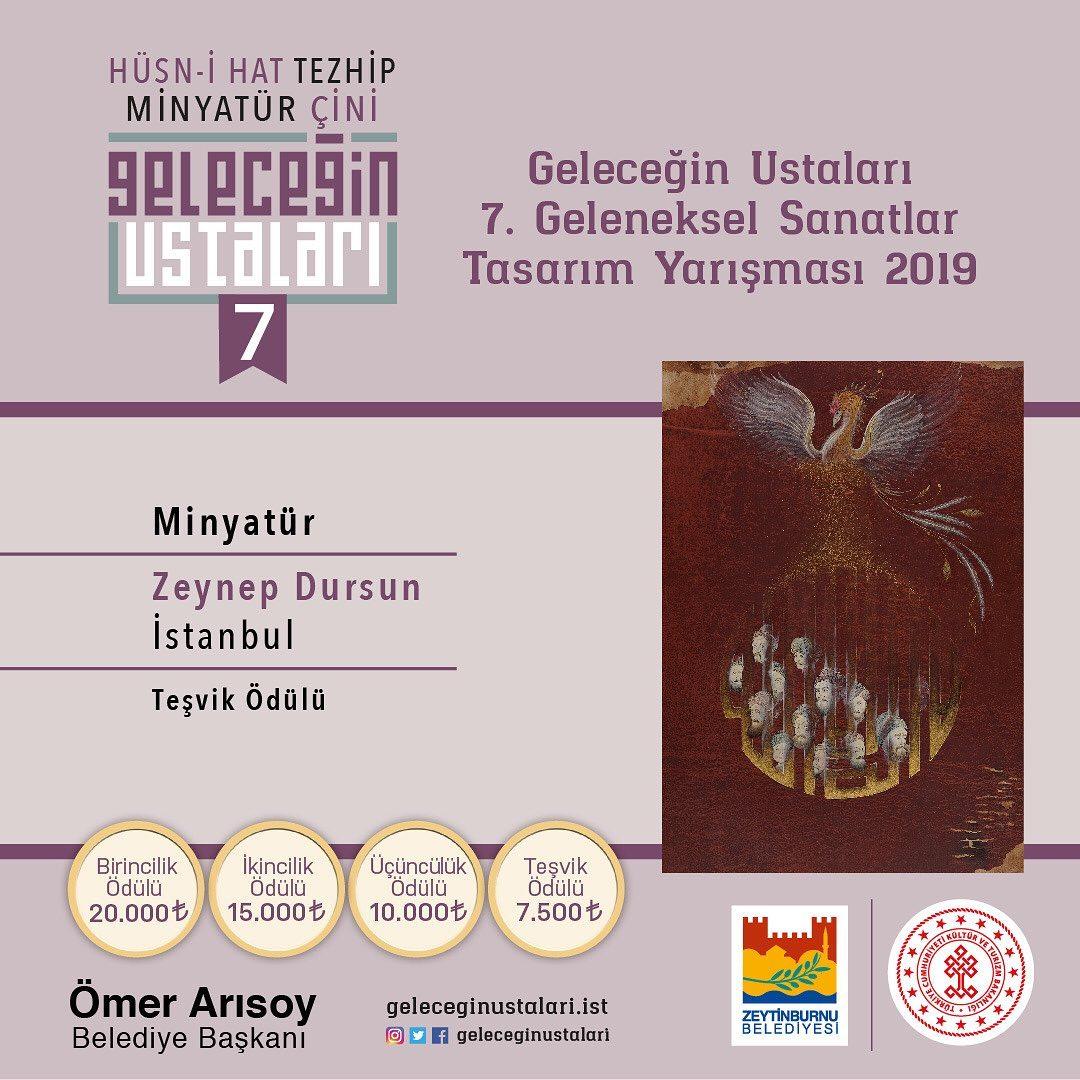 geleceginustalari Zeytinburnu Belediyesi 7. Geleneksel Sanatlar Tasarım Yarışması Minyatür Branşı … 104