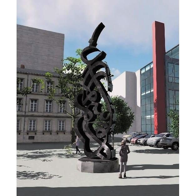 khat/hat/kat Tsulust/Thuluth Mothana Alobaydi فكرة مجسم من الحديد في لوكسمبورغ… 200