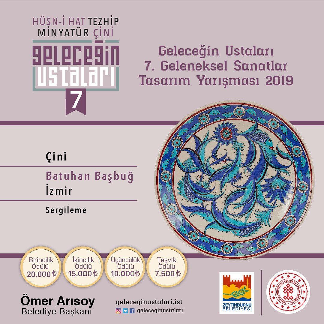 geleceginustalari Zeytinburnu Belediyesi 7. Geleneksel Sanatlar Tasarım Yarışması Çini Branşı S… 85