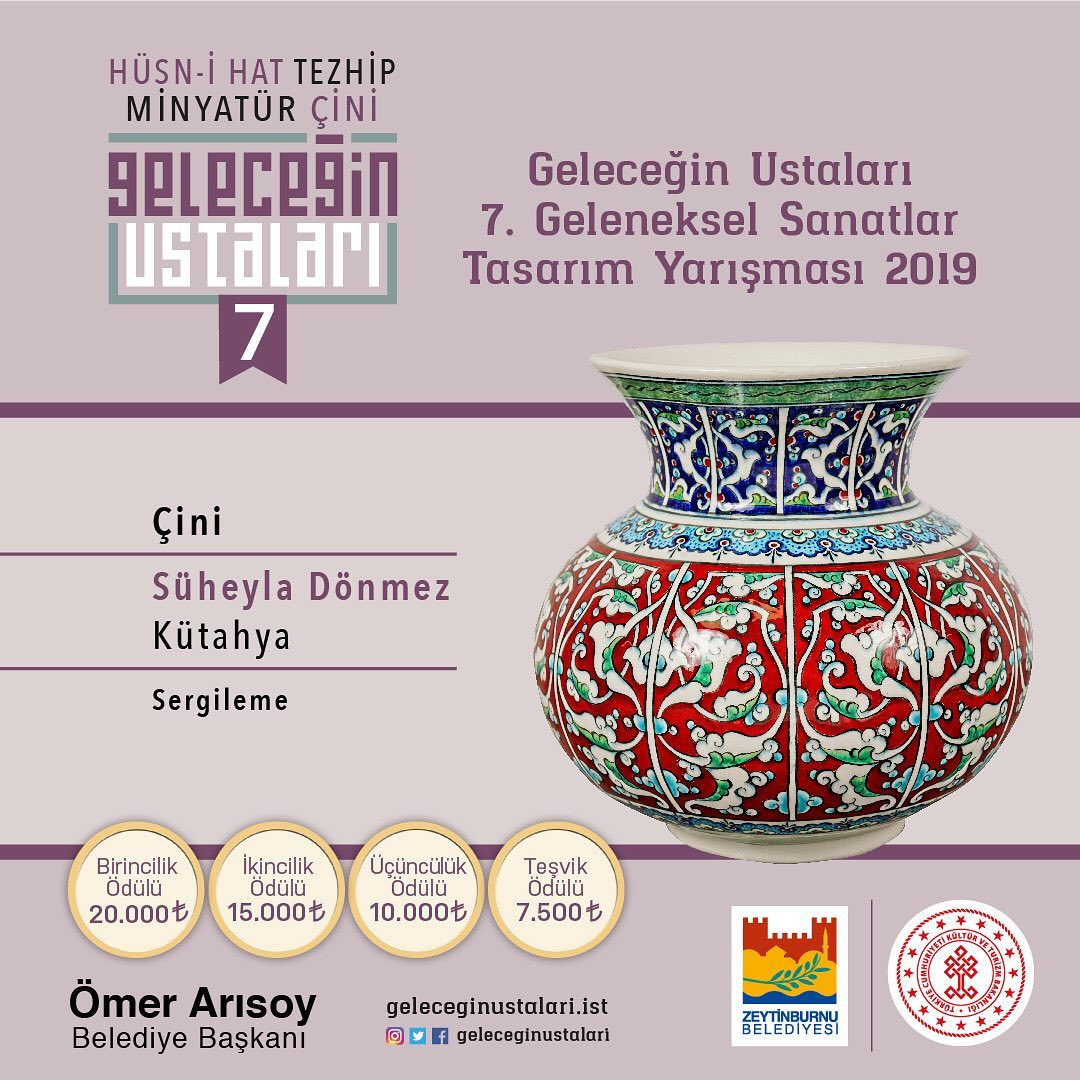 geleceginustalari Zeytinburnu Belediyesi 7. Geleneksel Sanatlar Tasarım Yarışması Çini Branşı S… 89
