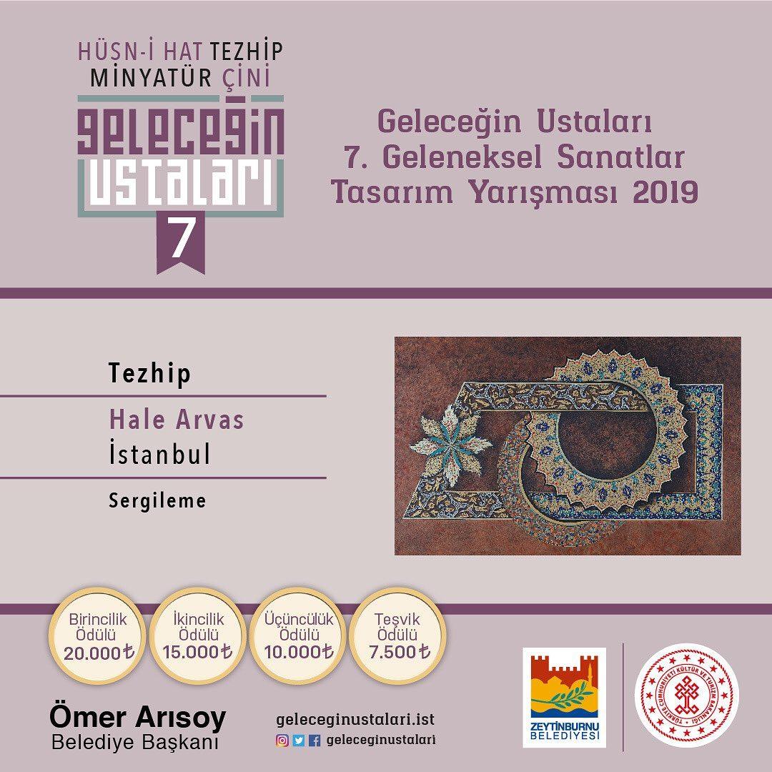 geleceginustalari Zeytinburnu Belediyesi 7. Geleneksel Sanatlar Tasarım Yarışması Tezhip Branşı … 81
