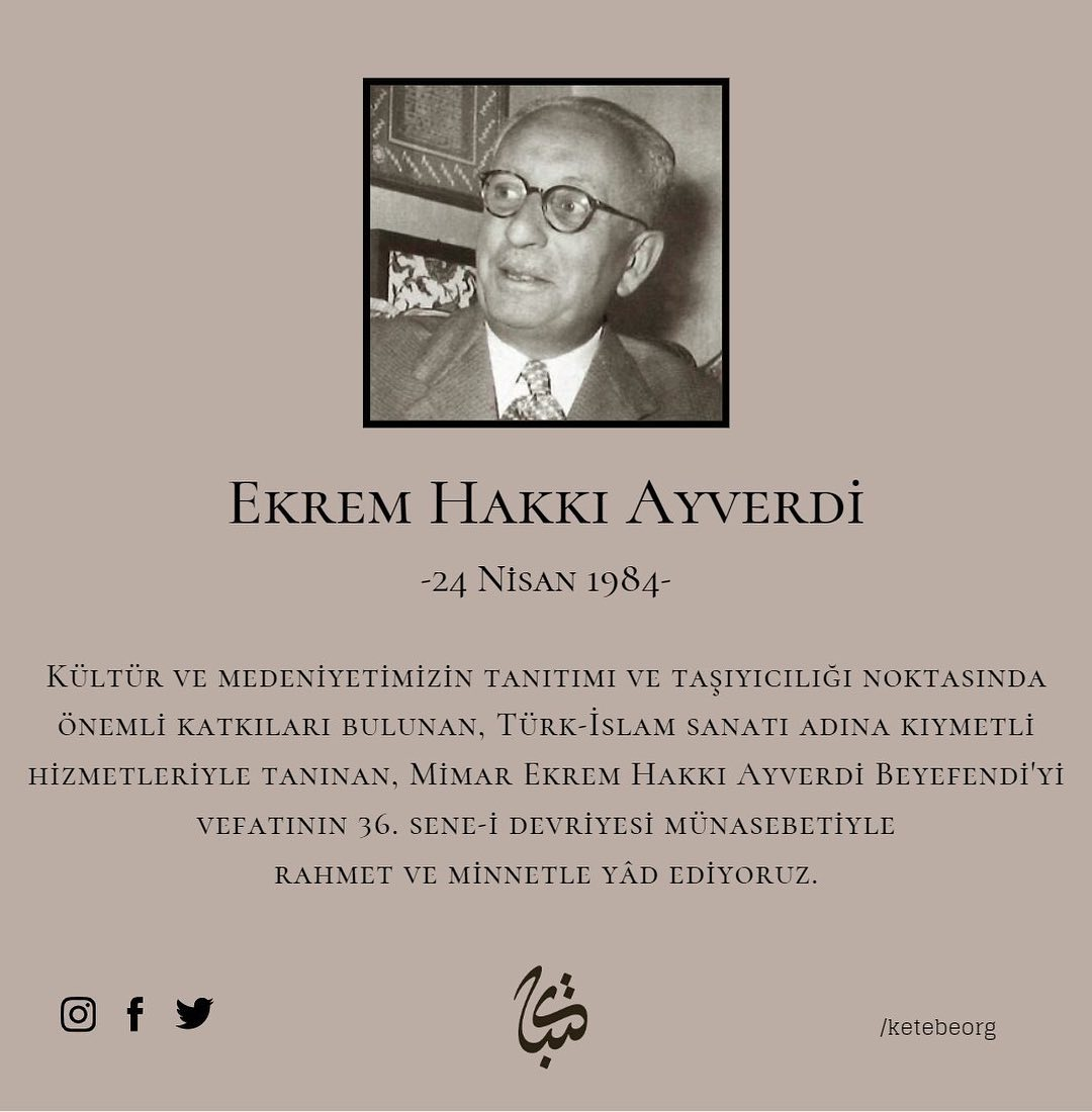 Apk Website For Arabic Calligraphy Vefatının 36. sene-i devriyesinde Ekrem Hakkı Ayverdi Beyefendi'yi rahmetle yâd ... 301 1