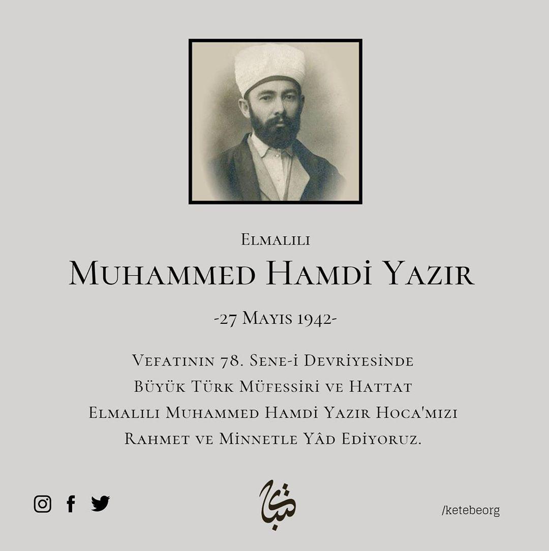 Apk Website For Arabic Calligraphy Vefatının 78. sene-i devriyesinde büyük Türk müfessiri ve hattat Elmalılı Mu… 618