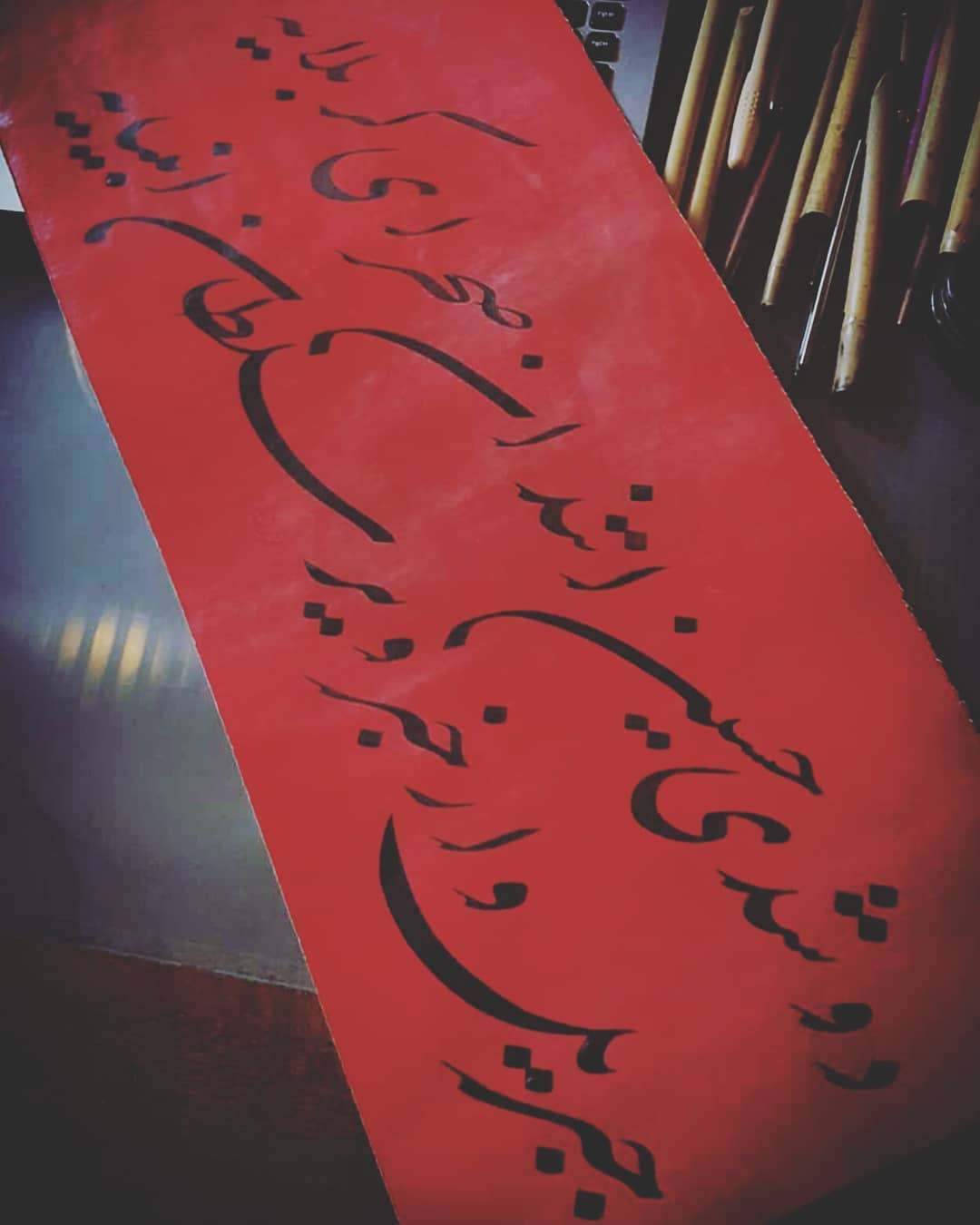 Donwload Photo Düştü Hüseyn atından sahra-ı Kerbelâ'ya  Cibril var haber ver Sultan-ı Enbiyâ'ya…- Hattat Mahmud