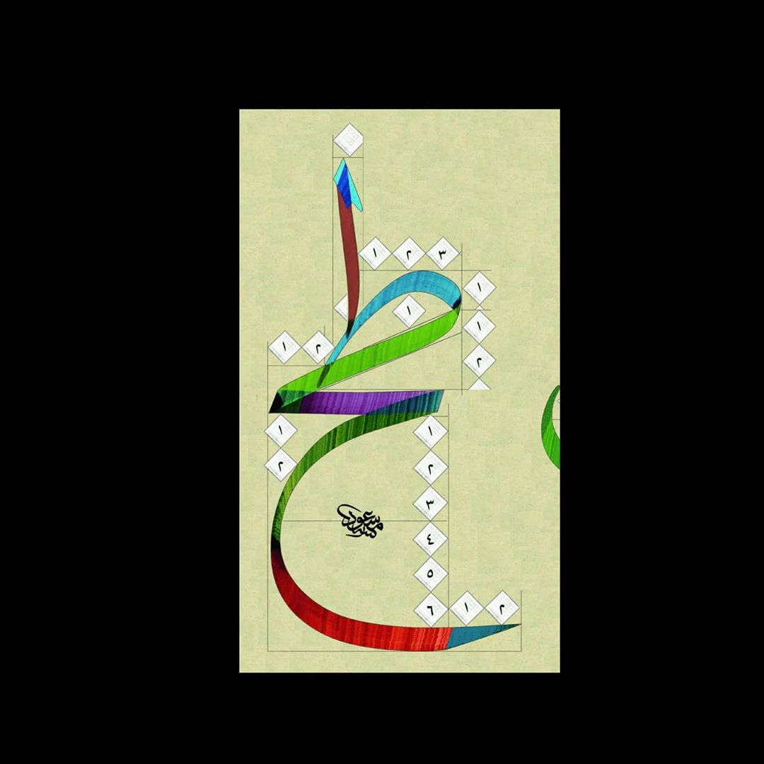 Download Kaidah Kaligrafi dan Karya Naskhi Tsulust #مشق #خطاطی #خطاطين_العرب #خطوط_عربية #خطاط #خط_الثلث...-alkhattatmasud 1