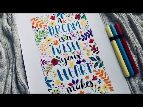 Download Video Brush Pen Calligraphy | Easy Calligraphy For Beginners | Twilight Time Art