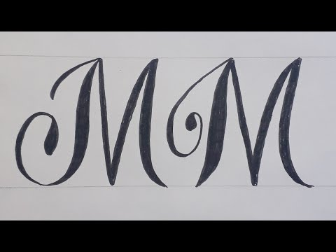 Download Video Calligraphy Handwriting Letter M In Cursive Design / How To Write Stylish Alphabet For beginners
