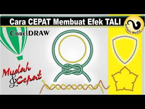 Download Video Cara Membuat Efek Tali dengan Coreldraw – Artistic Media Tool