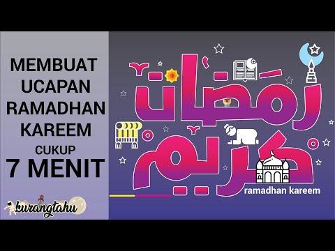 Download Video Cara Membuat Kartu Ucapan Ramadhan || Marhaban Ya Ramadhan