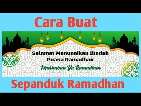 Download Video CorelDraw | Cara Buat Sepanduk Ramadhan