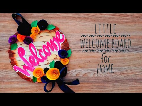 Download Video HOW TO | DIY | HANDMADE WELCOME BOARD | CALLIGRAPHY | ICE CREAM STICK CRAFT | PAPER FLOWERS