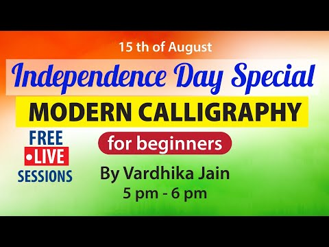 Download Video Independence Special Day | Calligraphy For Beginners By Vardhika Jain | Letstute