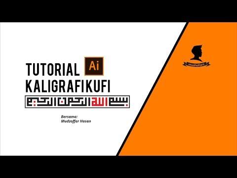 Download Video Inilah Cara Membuat Kaligrafi Kufi Lafadz Bismillah menggunakan Adobe Illustrator