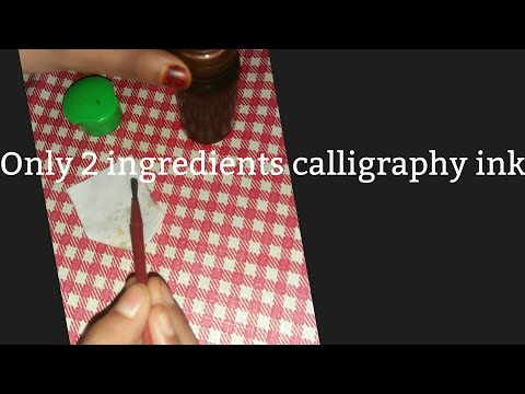 Download Video Only 2 ingredients calligraphy ink