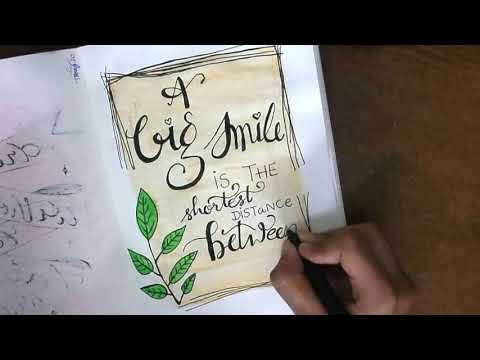 Download Video PAINTING WATERCOLOUR LEAF + FRAME | WATERCOLOUR CARD IDEAS | CALLIGRAPHY TUTORIAL