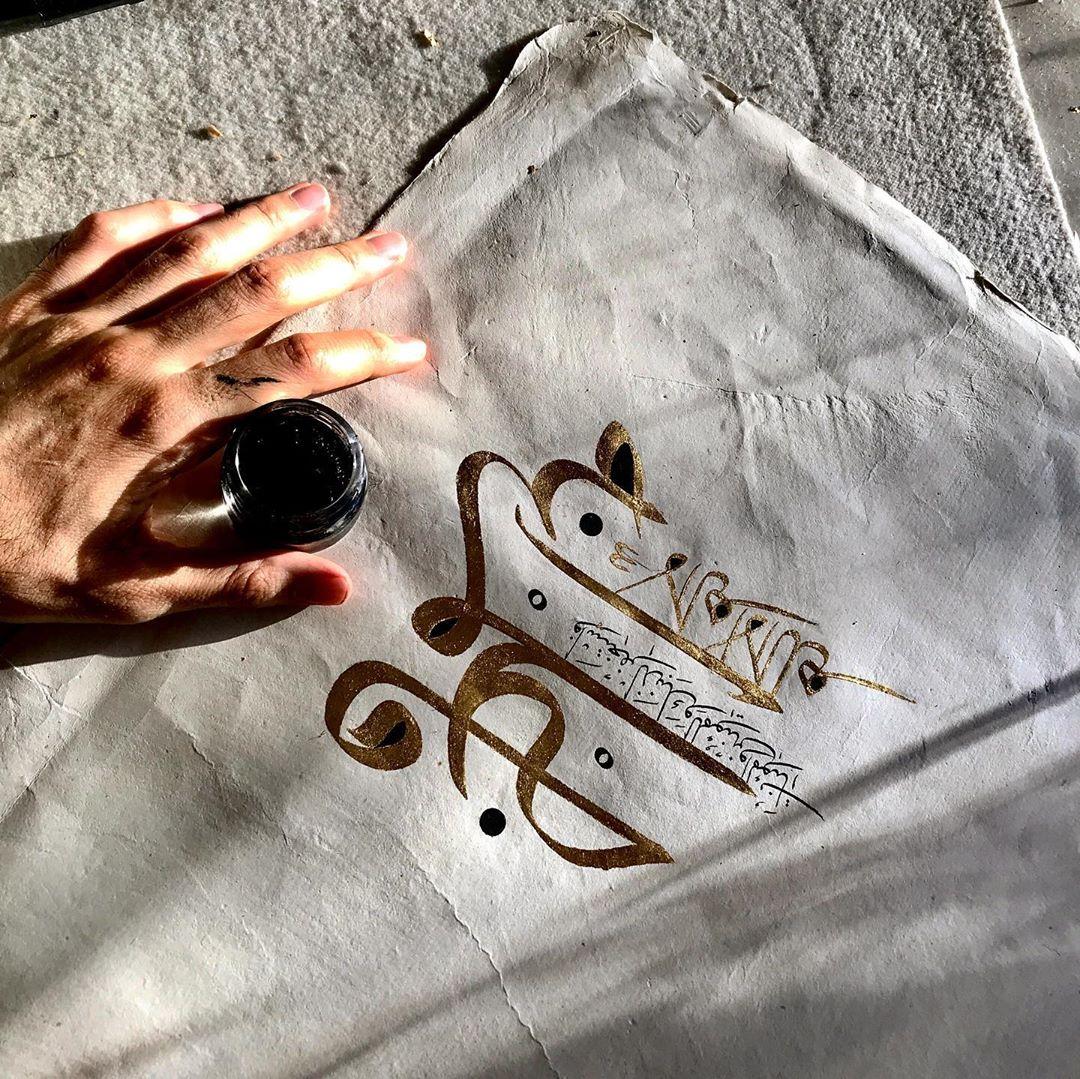 Karya Kaligrafi بدأت في هذا العمل دون تخطيط مسبق خلافاً على ما اعتدت عليه وبعد ما اتممت اول كل…- jasssim Meraj