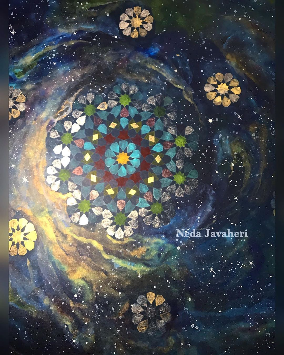 Karya Kaligrafi Galaxy… روز معلم امسال هم تمام شد.  ماراتون تقدیر و تشکرها بود و خاطره بازیها …- Ne Javaher