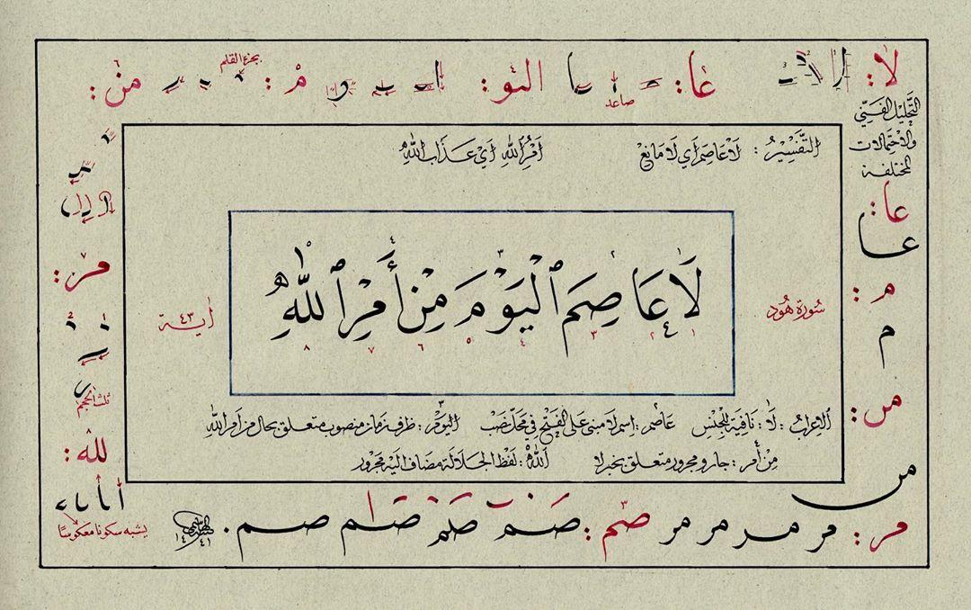 Khat Diwani Ajhalawani/Amr كما أن التفسير توضيح للمعنى وبيانه  والإعراب تفسير ووصف لنهاية الكلمات  كذلك الخ… 1493