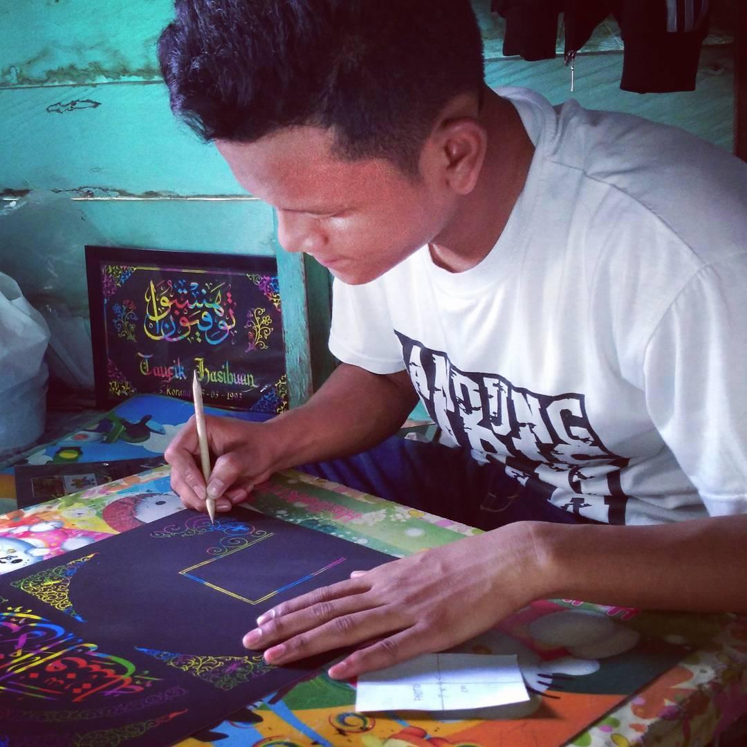 Works Calligraphy Taufik Hasibuan Ceritanya… Lagi kerja… … 80