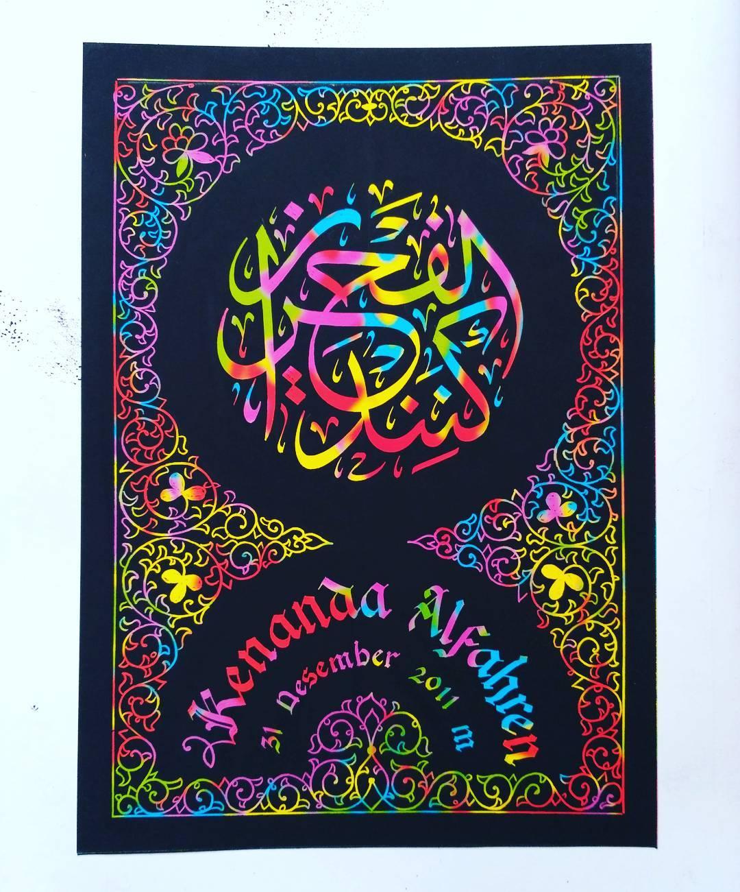 Works Calligraphy Taufik Hasibuan Yg minat… Hubungi ya….. 38