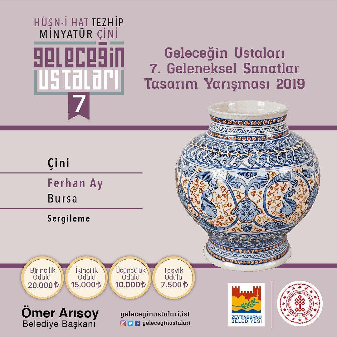 geleceginustalari Zeytinburnu Belediyesi 7. Geleneksel Sanatlar Tasarım Yarışması Çini Branşı S… 115