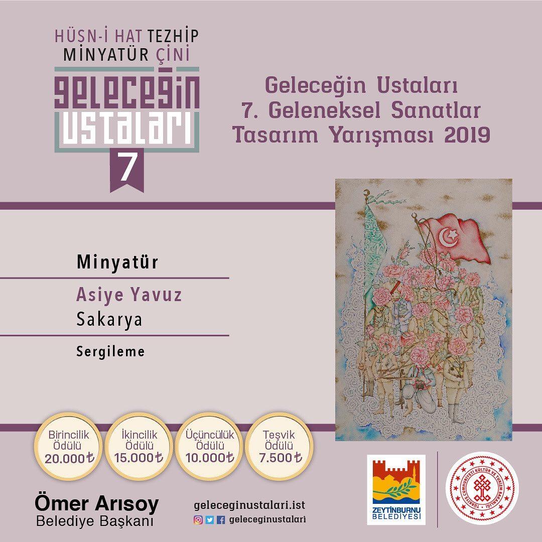 geleceginustalari Zeytinburnu Belediyesi 7. Geleneksel Sanatlar Tasarım Yarışması Minyatür Branş… 38