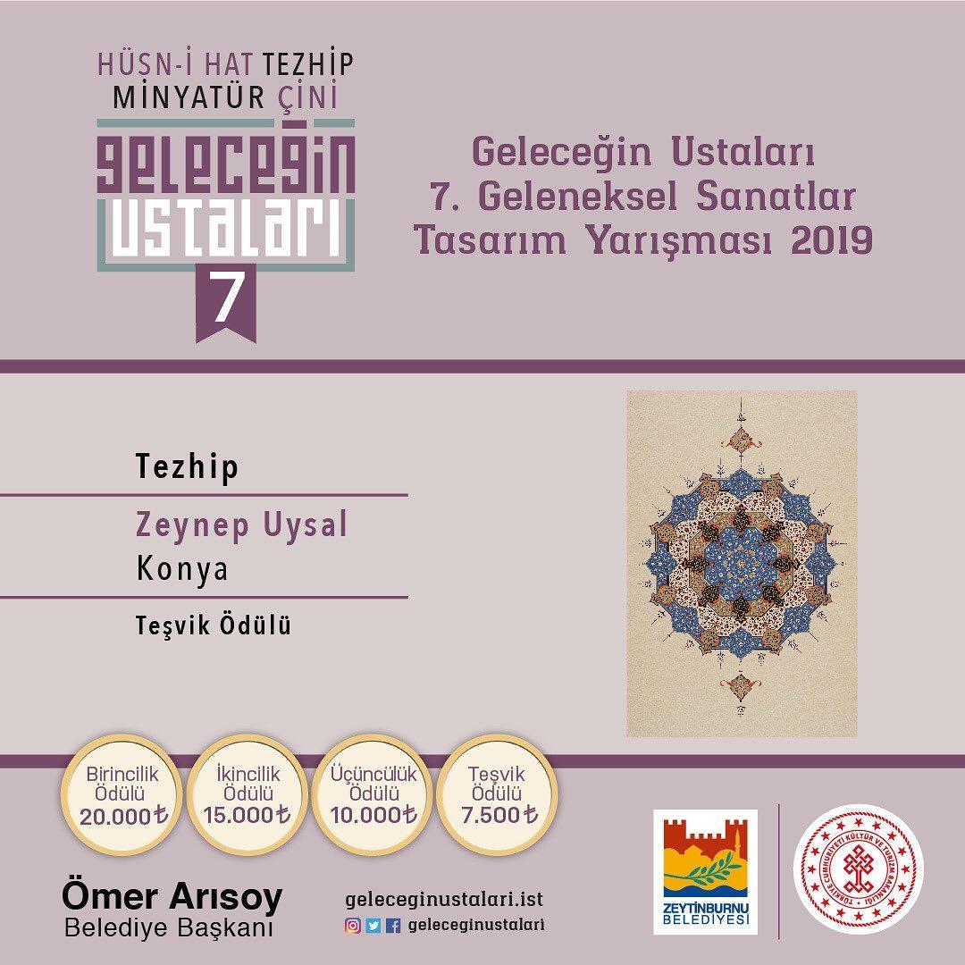 geleceginustalari Zeytinburnu Belediyesi 7. Geleneksel Sanatlar Tasarım Yarışması Tezhip Branşı … 85