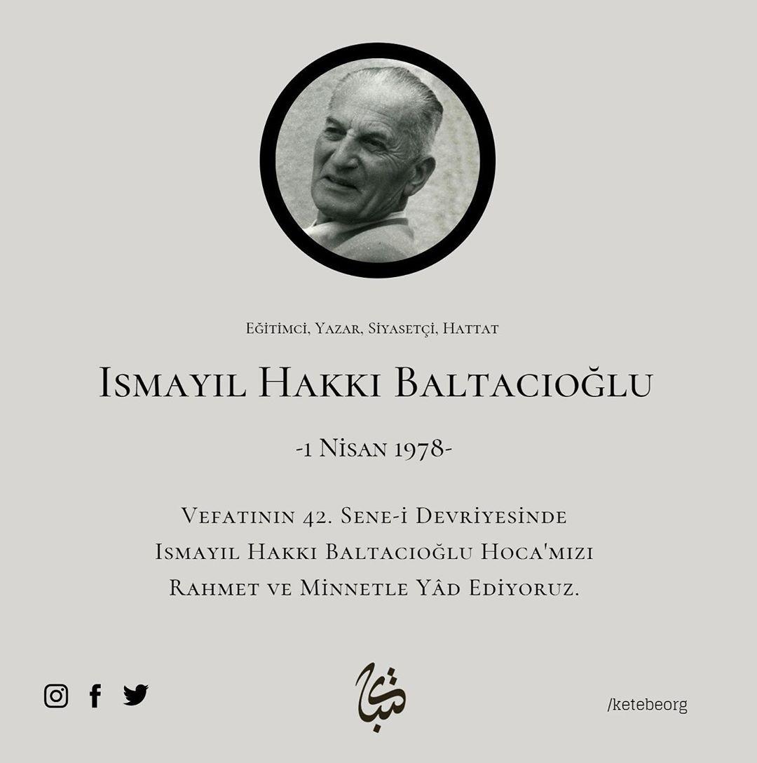 Apk Website For Arabic Calligraphy Vefatının 42. sene-i devriyesinde Ismayıl Hakkı Baltacıoğlu Hoca'mızı rahmet ve ... 231 1