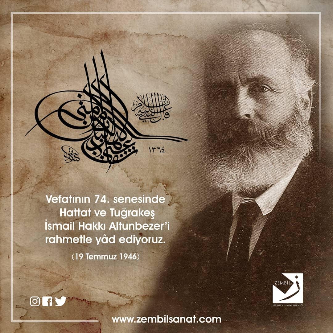 Donwload Photo 1873'te İstanbul'un Kuruçeşme semtinde doğan İsmail Hakkı Altunbezer'in ilk yazı…- Zembil Sanat