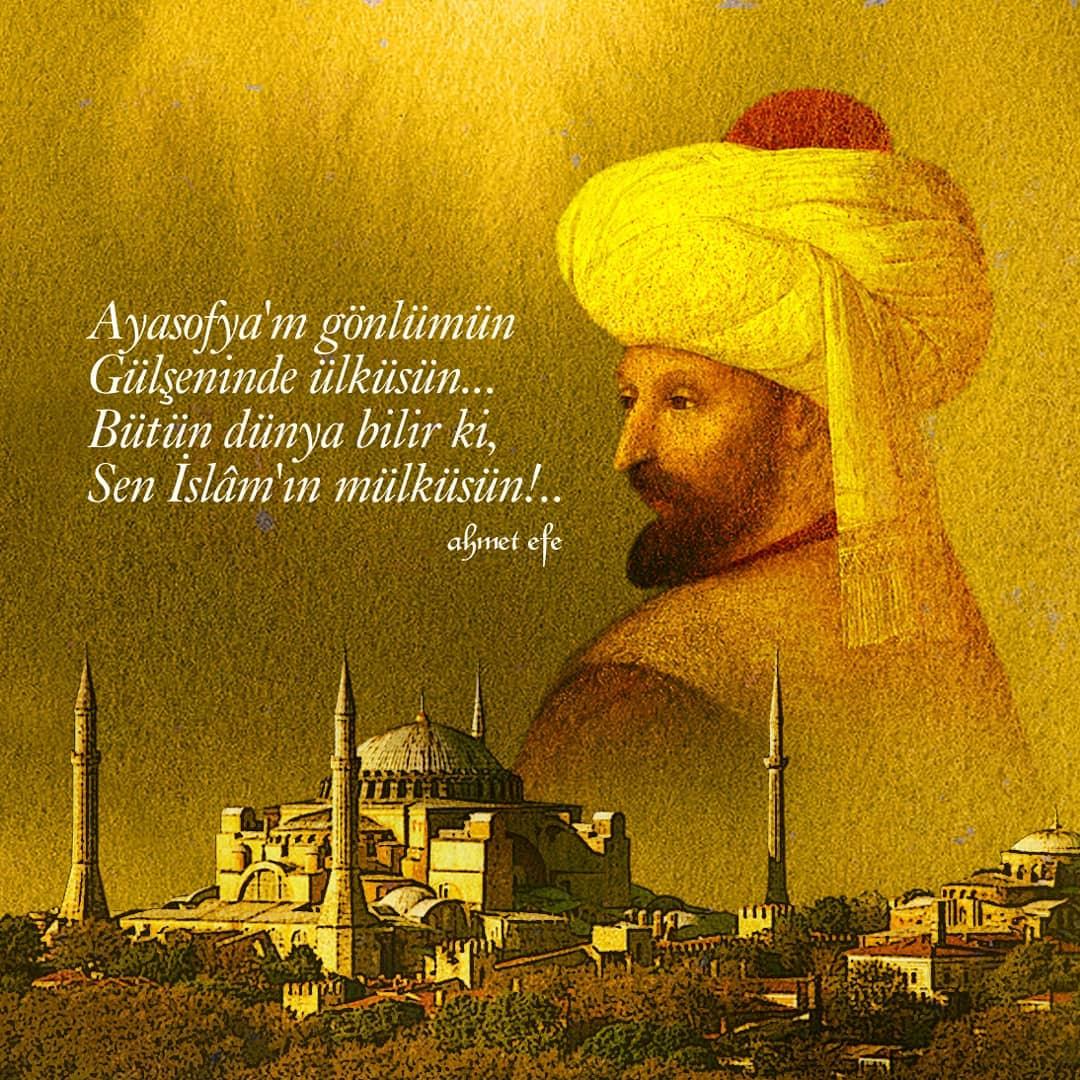 Donwload Photo Vatana ve milletimize hayırlı olsun… #Ayasofyacami #istanbul #ahmetefe #ayaso…- Zembil Sanat