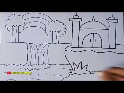 Download Video CARA MENGGAMBAR MASJID #6