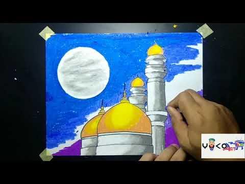 Download Video Cara Menggambar Masjid Dengan Crayon #caramenggambarmasjid