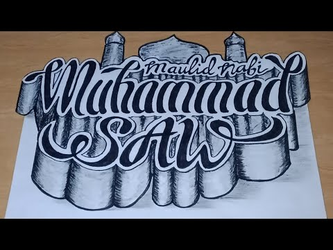 Download Video Cara menggambar POSTER 3D Tema Maulid Nabi Muhammad SAW 1442H/2020 M