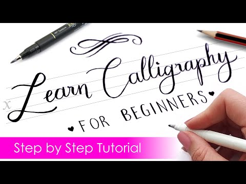 Download Video How to write CALLIGRAPHY with ANY PEN ✍️ | Step by Step Tutorial