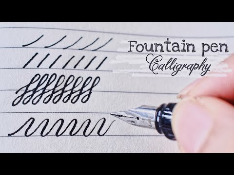 Download Video How to write calligraphy with fountain pen | Fountain Pen Hack | Cursive writing