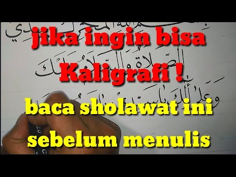 Download Video (Khat Naskhi) Kaligrafi Sholawat Adrikah