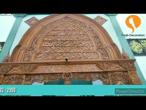 Download Video Ornamen Kaligrafi Jati Ukir  Di Masjid Karya Faqih Decoration