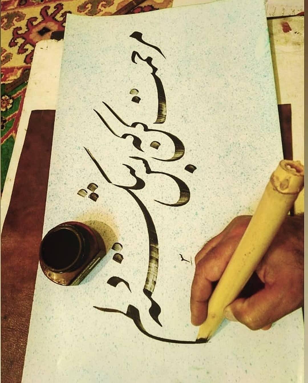 Farisi/Nasta'liq khatestan  ﷽ مرحمت کن که بس شکسته دلم . #خطستان  @khatestan #خط_خودکاری#خط_خودکاری_نوین#خط… 790