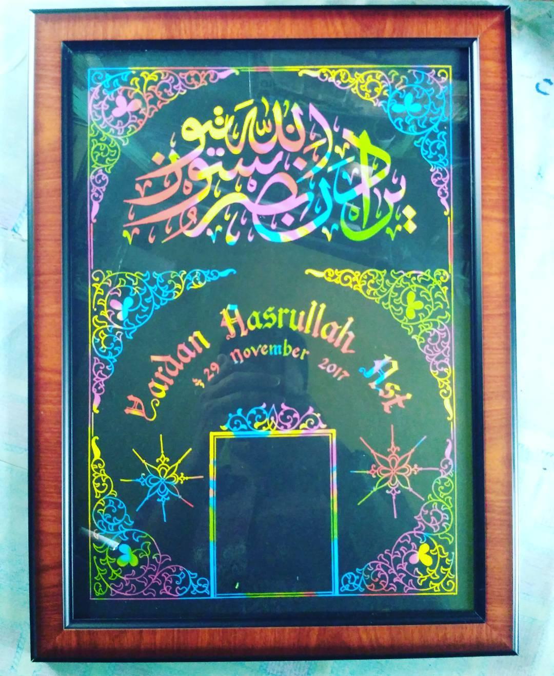 Works Calligraphy Taufik Hasibuan Kertas pelangi.. Minat chat me…. 46