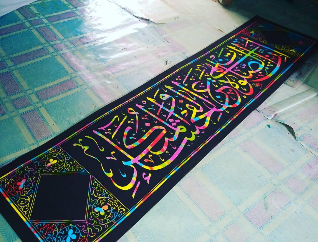Works Calligraphy Taufik Hasibuan Minat chat me... Kertas pelangi..... 67 2