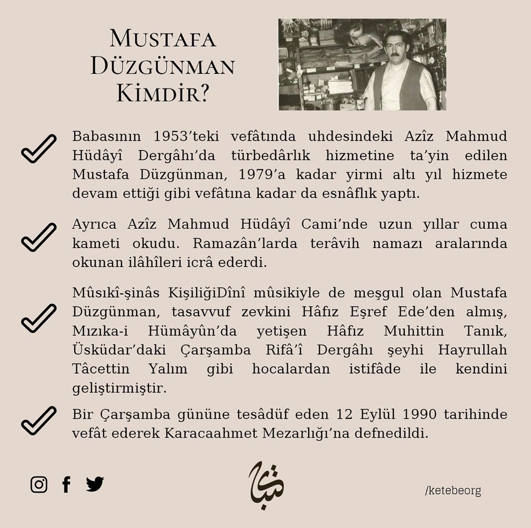 Apk Website For Arabic Calligraphy Vefatının 30. sene-i devriyesinde Ebrû üstadı Mustafa Düzgünman Beyefendi'yi rah... 382 3