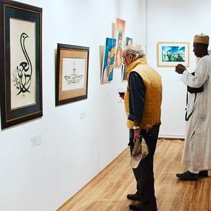 "Donwload Photo Khat Unik ""Ark of beauty"" during the international art exhibition with a theme :"" The art ... - Yushaa Abdullah 6"