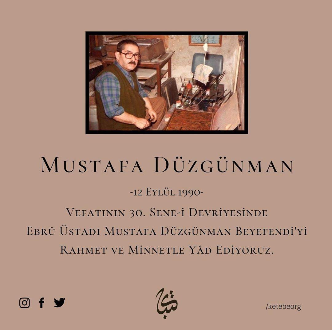 Apk Website For Arabic Calligraphy Vefatının 30. sene-i devriyesinde Ebrû üstadı Mustafa Düzgünman Beyefendi'yi rah... 382 1