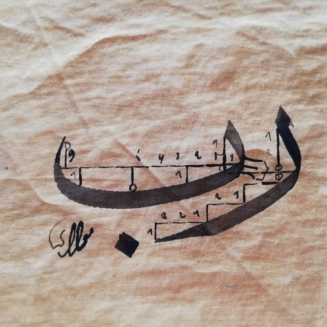 Arabic Calligraphy by Maulay Abdur Rahman  الحساب الذهبي في خط الثلث والعاقبة لكل الخطوط ... 1133 1