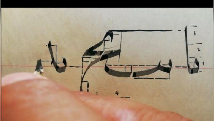 Arabic Calligraphy by Maulay Abdur Rahman  الحمد لله وصلنا مع رفاقنا في النجاح الى المستوى الثاني( الاتصالات) بطريقة الحساب… 471