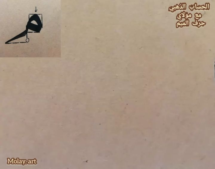 Arabic Calligraphy by Maulay Abdur Rahman  حرف الميم في خط النسخ (( الحساب الذهبي للخط العربي))... 564 1