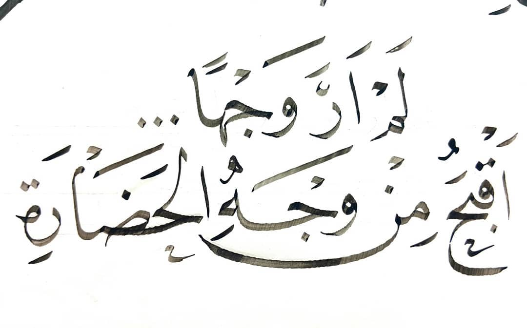 Download Gambar Naskhi Ehab Ibrahim Gaya Turky مشق 1.4 ملم ...يكفيها قبحا أنها أبشع تلوث بصري.... 1