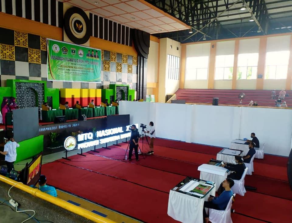 Download Suasana lomba Kaligrafi MTQ Nasional di Sumatera Barat Tahun 2020 3